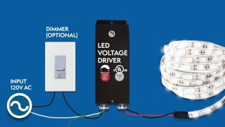 12VDC Dimmable LED Driver installation - Magnitude's E-Series UL listed