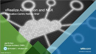 VRA NSX - Delivering App-Centric Networking And Security (v2017-Q3)
