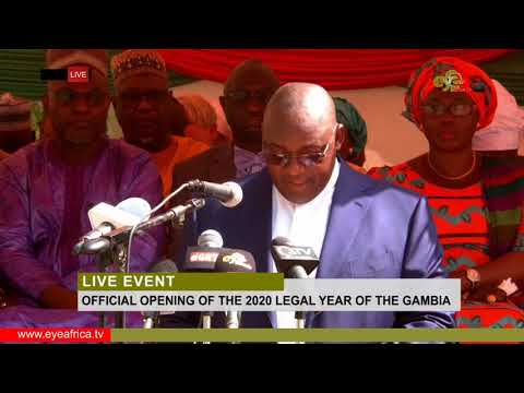 SPEECH BY PRESIDENT ADAMA BARROW AT THE LEGAL YEAR 2020 OFFICIAL OPENING