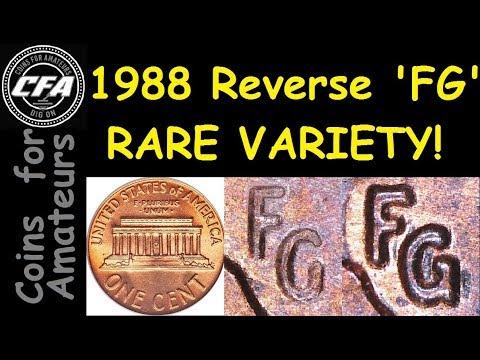 Identify 1988 Penny Rare Variety | Value of this Reverse FG Transition  Error Cent