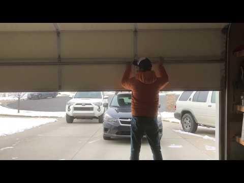 How To Open A Broken Garage Door, Broken Spring