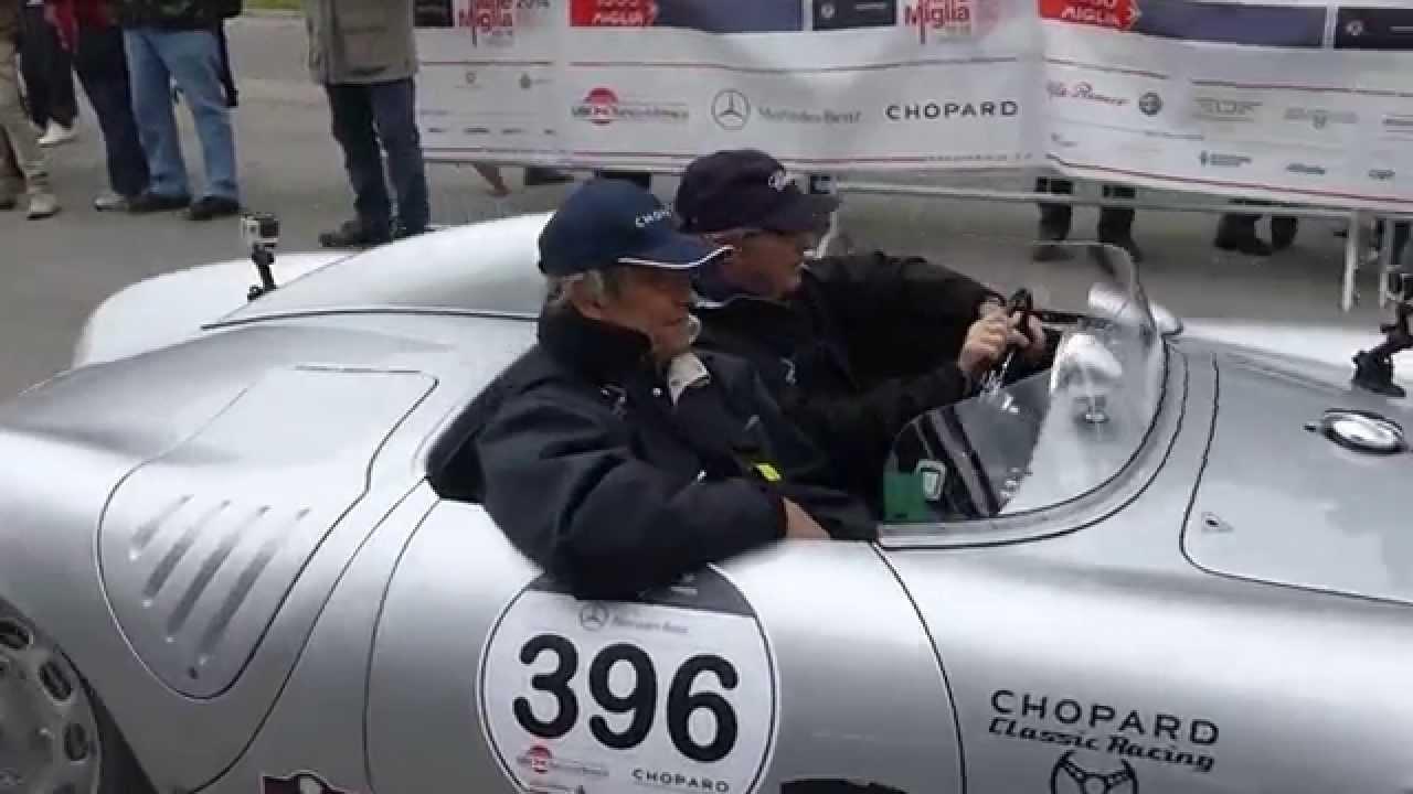 mille miglia 2014 jacky ickx su porsche 550 spyder rs del 56 - Porsche Spyder 550 2014