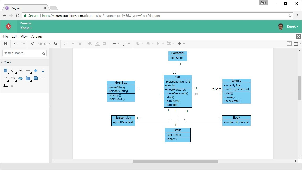 how to draw class diagram online [ 1280 x 720 Pixel ]