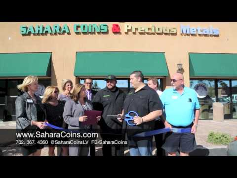 Sahara Coins Ribbon Cutting Event with Henderson Chamber of Commerce pt. 1