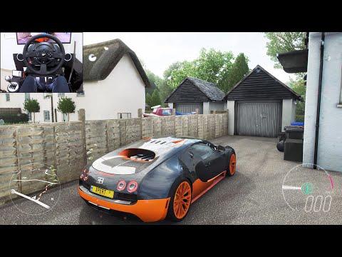 1400+ BHP Bugatti Veyron SS – Forza Horizon 4 | Thrustmaster T300RS gameplay