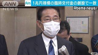 1兆円規模の臨時交付金設ける 麻生・岸田会談一致(20/04/03)