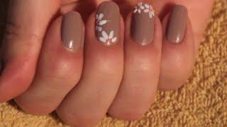 Урок дизайна ногтей - как нарисовать цветочки на ногтях