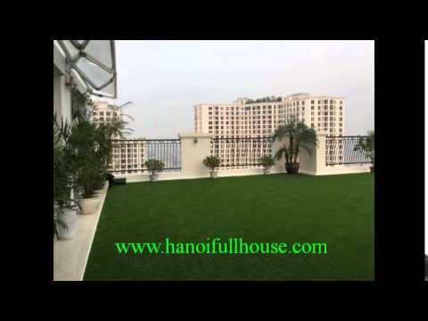 Penthouse for rent in Royal City Hanoi. Big garden outdoor, open space, furnished