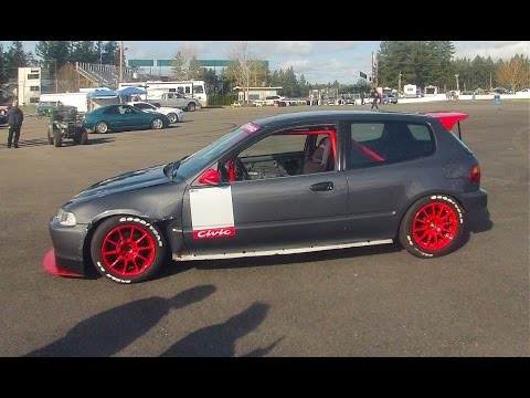 Ulysses's Honda Civic EG Hatch Track Session (honda fest 2015)