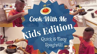 Cook With Me (Kids Edition)  How to Make Homemade Spaghetti  Quick&ampEasy Spaghetti  LifeAsBrittany