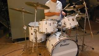 1975 Premier Drums Demo Sundown Lightfoot Classic Kit