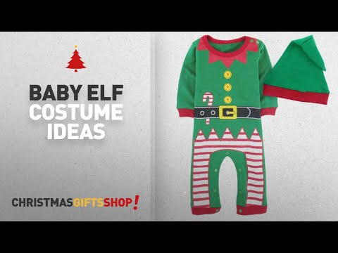 Christmas Baby Elf Costume: A&J Design Baby Toddler Christmas Fairy Costume Outfit Romper with Hat