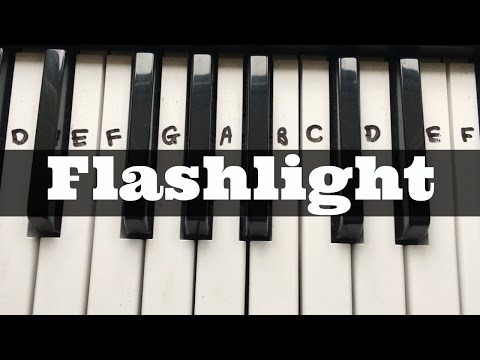 Flashlight - Jessie J (Pitch Perfect 2)| Easy Keyboard Tutorial With Notes (Right Hand)