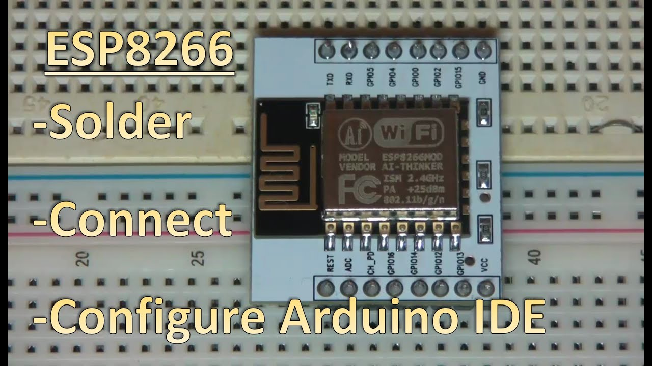 Esp  how to solder breakout board and flash