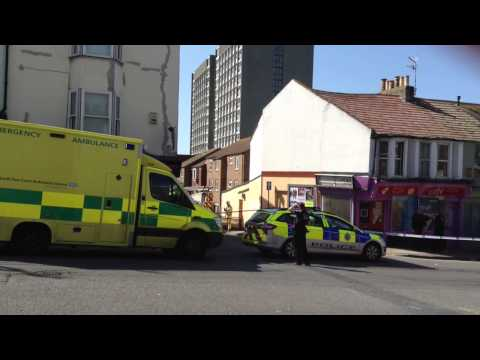 Armed man arrested by riot police off Edward Street, Brighton