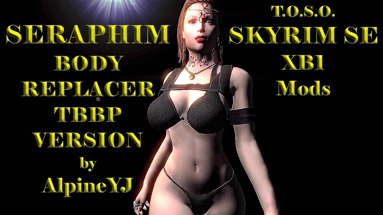 Skyrim Mods XB1 Seraphim Female Body Replacer TBBP Version by Alpine