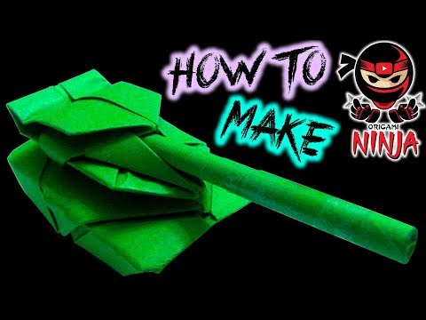 How To Fold: Origami Paper Tank