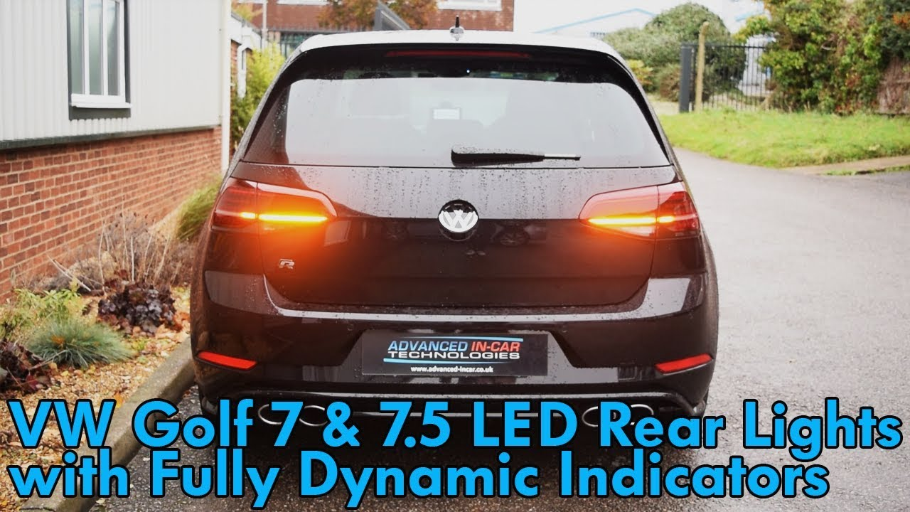 VW Golf 7 & 7 5 Rear Matrix LED Clusters with Dynamic Indicators