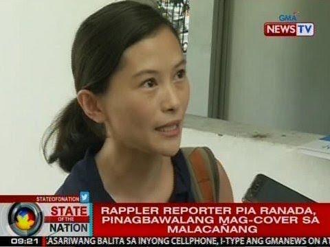 SONA: Rappler reporter na si Pia Ranada, pinagbabawalan nang mag-cover sa Malacañang