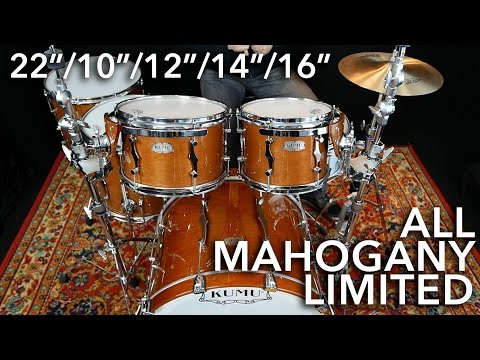"KUMU All Mahogany Limited 22""/10""/12""/14""/16"" – 3 TUNINGS"
