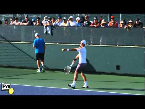 Video quay cham Djokovich giao bong tennis vietnam