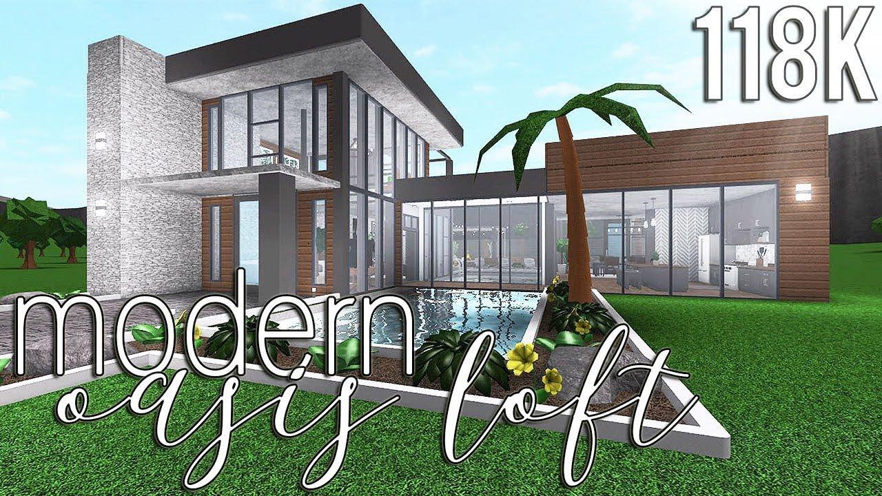 Roblox Bloxburg Modern Oasis Loft 118k Youtube