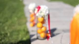 Свадебное оформление с апельсиновым настроением. Беллиссимо.