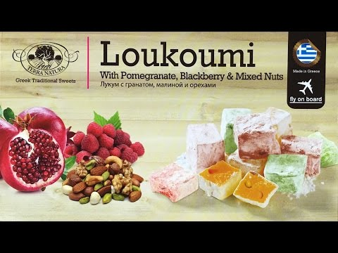 Greek Sweets Glaced Fruits Loukoumi taste test review