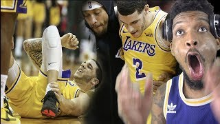 LONZO GOES DOWN!?!! LAKERS vs ROCKETS HIGHLIGHTS REACTION!