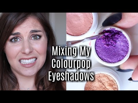 Destroying + Mixing My Colourpop Makeup to Create a Custom Shade [FRANKENSHADOW履♂️] | Bailey B.