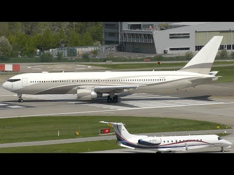 April HIGHLIGHTS 2018 ft. B747s, BBJs, private jets & more | Zurich Airport Plane Spotting in 4K