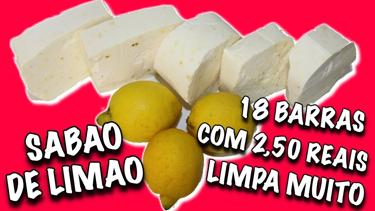 Sabão Caseiro De Limão Como Fazer Facil E Barato Youtube