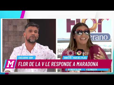 Flor de la V vs Maradona: Ella decidió sacar de su obra el homenaje a Diego