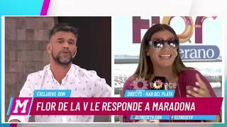 Download Video Flor de la V vs Maradona: Ella decidió sacar de su obra el homenaje a Diego MP3 3GP MP4
