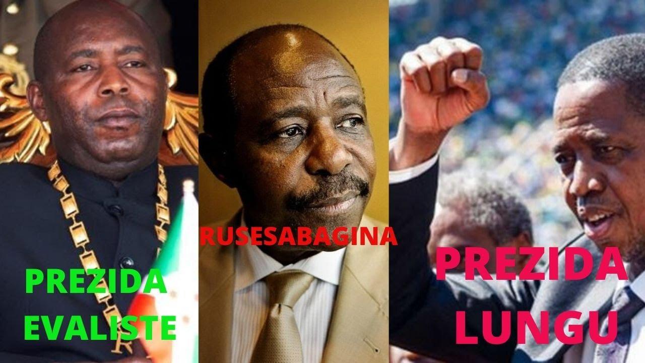 PAUL RUSESABAGINA ARAPFUYE NONEHO/ PREZIDA WA ZAMBIA NA NDAYISHIMIYE W'UBURUNDI BEMEYE KUMURWAN