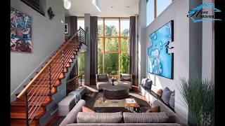 Living Rooms with Floor to Ceiling Windows - Home Design