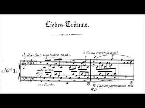 Liebesträume No 1, S5411 Liszt  Sheet Music