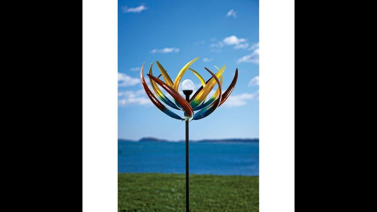 Yard And Garden >> Solar Multi-Color Tulip Wind Spinner - YouTube