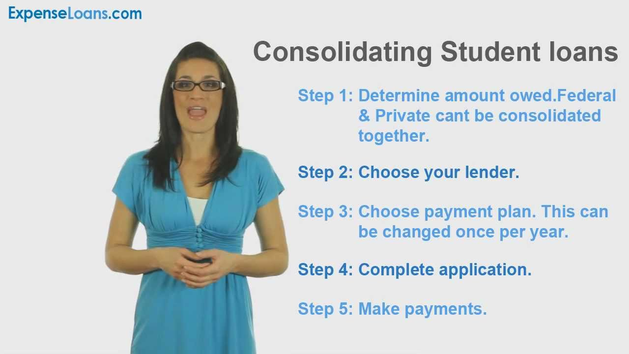 How To Consolidate Student Loans - YouTube