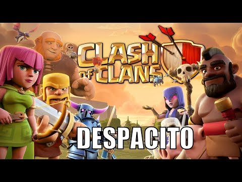 Despacito - Clash Of Clan II Justin Bieber - Daddy Yankee II Cartoon Parody ( Music Video )