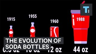 The disturbing evolution of soda bottles