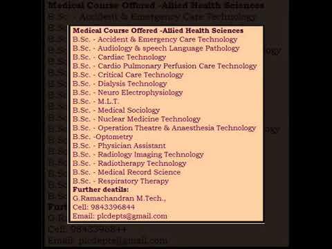 Medicine, Dental ,  Health Sciences, Course details