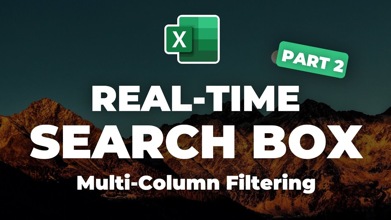 Real-Time Multi-Column Data Search Box in Excel with FILTER function [Part 2]