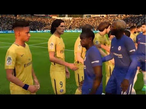 [PC] Paris Saint-Germain vs Chelsea - Gameplay Demo FIFA 18 Legend