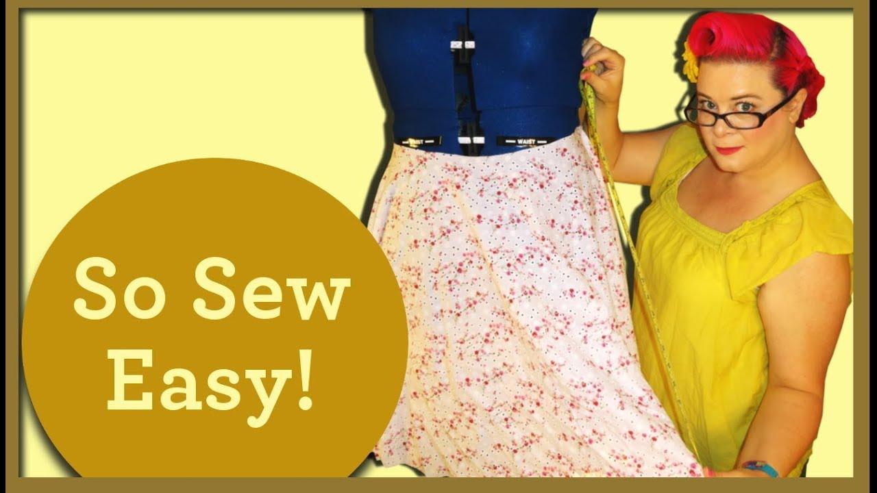 Making A 2 Panel Circle Skirt