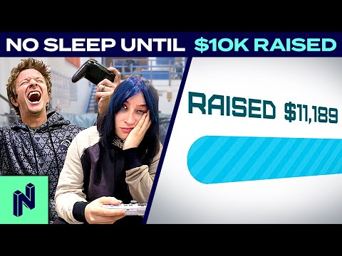 NO SLEEP Until We Raise $10K For Charity | 24 Hour Charity Stream Highlights