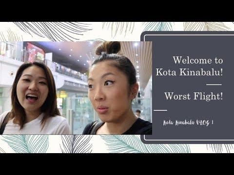 Kota Kinabalu VLOG 1 | STINKIEST FLIGHT EVER, Korean Accents ETC.