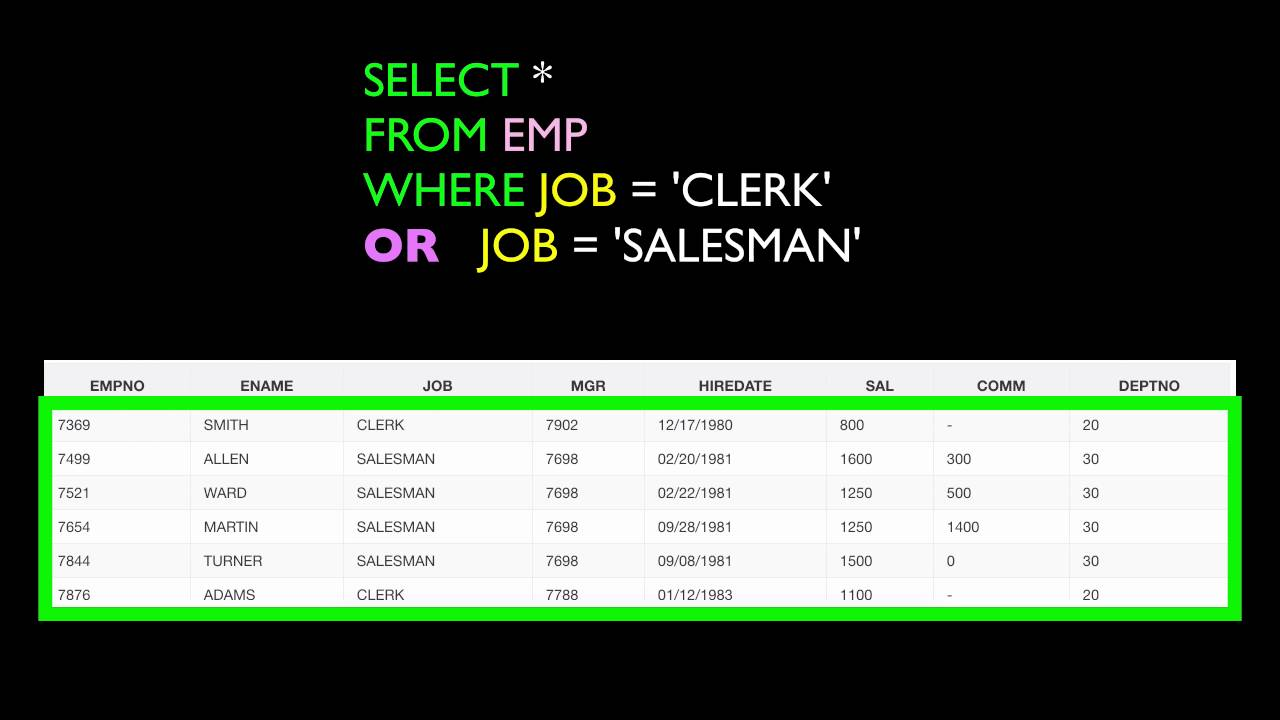 Lesson 7 Sql And And Or Operators Oracle Sql Certification Youtube