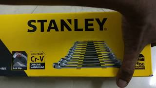 Review and unboxing of Stanley 70-964E Combination Spanner Set (12-Pieces)