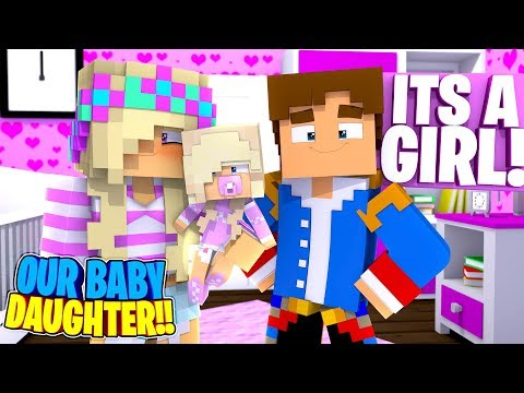 Minecraft BECOMING A MOM & DAD - LITTLE DONNY & LEAH HAVE A BABY DAUGHTER - WHAT IS HER NAME??
